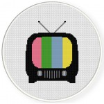 Stand By TV Cross Stitch Illustration