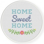Sweet Home Cross Stitch Illustration