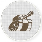 Tank Cross Stitch Illustration