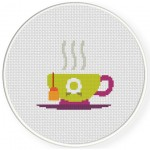 Tea Time Cross Stitch Illustration