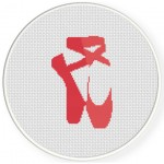 Tip Toe Ballet Cross Stitch Illustration