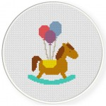 Toy Horse Cross Stitch Illustration