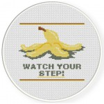 Watch Your Step Cross Stitch Illustration