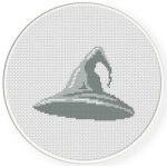 Wizard Hat Cross Stitch Illustration