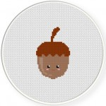 Acorn Cross Stitch Illustration