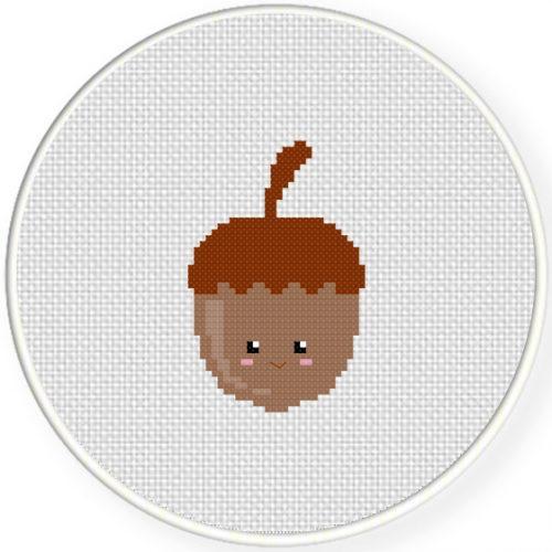 Acorn Cross Stitch Illustration