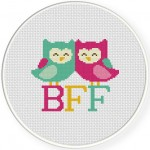 BFF Cross Stitch Illustration