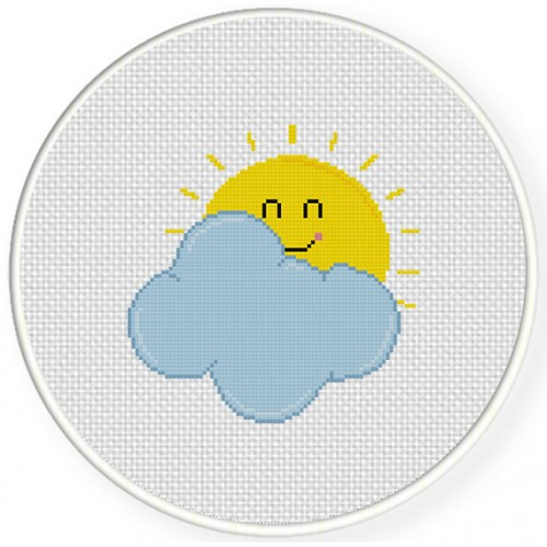 Beautiful Day Cross Stitch Illustration