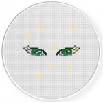 Beautiful Eyes Cross Stitch Illustration