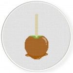 Caramel Apple Cross Stitch Illustration