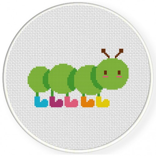 Caterpillar Boots Cross Stitch Illustration