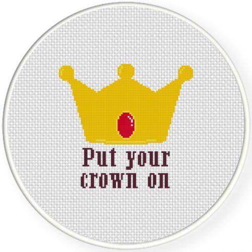 Cute Crown Cross Stitch Illustration