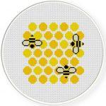 Honey Comb Cross Stitch Illustration