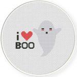 I love Boo Cross Stitch Illustration
