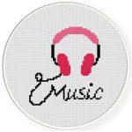 Music Cross Stitch Illustration