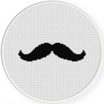 Mustache Cross Stitch Illustration