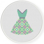 Pattern Dress Cross Stitch Illustration