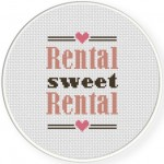 Rental Sweet Rental Cross Stitch Illustration
