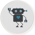 RoboBoy Cross Stitch Illustration