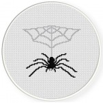 Spider's Lair Cross Stitch Illustration