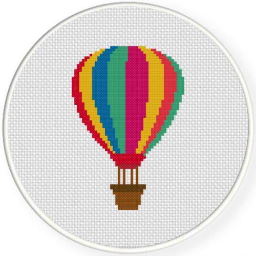 Air Balloon Cross Stitch Illustration