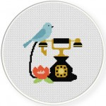 Antique Charm Cross Stitch Illustration