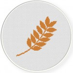 Autumn Leaf Cross Stitch Illustration