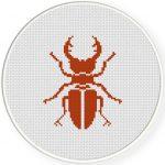 Beetle Cross Stitch Illustration