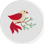 Bird Cross Stitch Illustration