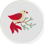 Bird Cross Stitch Illustration