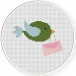 Bird Messenger Cross Stitch Illustration
