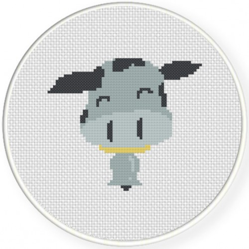 CowBell Cross Stitch Illustration