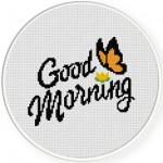 Good Morning Cross Stitch Illustration