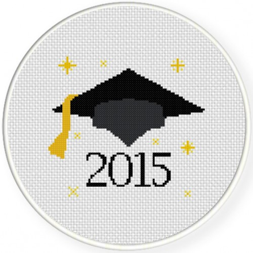 Graduation 2015 Cross Stitch Illustration