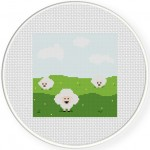 Green Field Cross Stitch Illustration