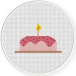 Happy Birthday Cross Stitch Illustration