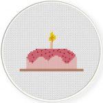Happy Birthday Cross Stitch Illustration