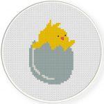 Hatch Egg Cross Stitch Illustration