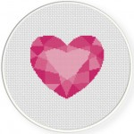 Heart Gem Cross Stitch Illustration