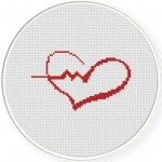 Heartbeat Cross Stitch Illustration