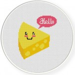 Hello Cheese Cross Stitch Illustration