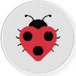 Love Bug Cross Stitch Illustration