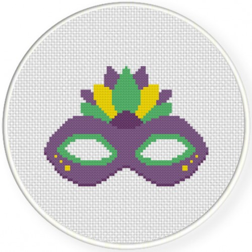 Mardi Gras Cross Stitch Illustration