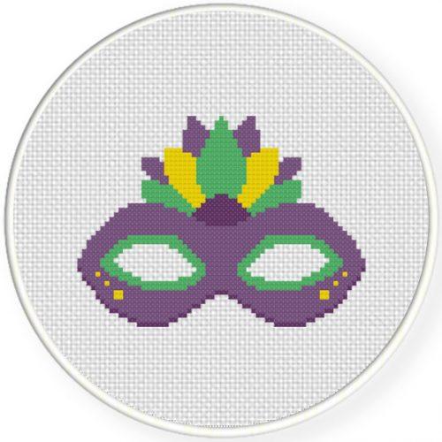 Mardi Gras Cross Stitch Illustration