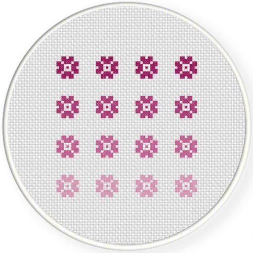 Ombre Flowers Cross Stitch Pattern Daily Cross Stitch Mesmerizing Stitch Patterns