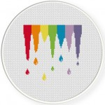 Paint Spill Cross Stitch Illustration