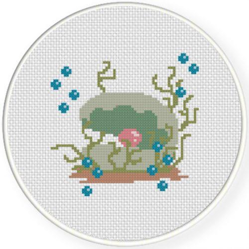 Pearl Cross Stitch Illustration