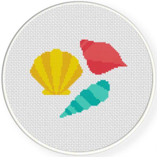 pretty seashells cross stitch pattern  u2013 daily cross stitch