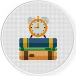 Reading Time Cross Stitch Illustration