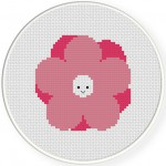 Smiling Flower Cross Stitch Illustration